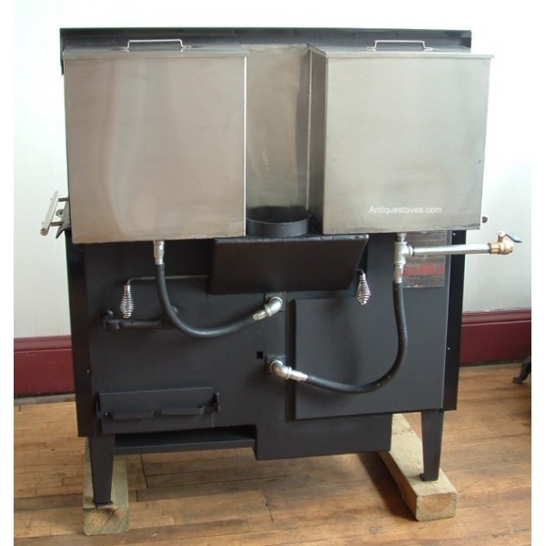 ... Wood Cook Stove 480 basic; Kitchen Queen back view ... - Kitchen Queen, Wood Cook Stove, Basic Economy